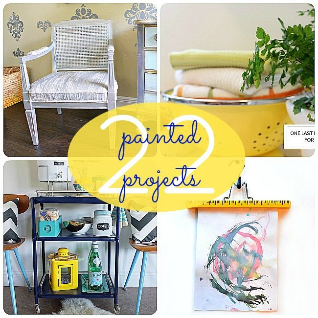 22 Painted Projects to Inspire you to be creative and update your home!! -- Tatertots and Jello #DIY: Crafts Ideas, Decor Ideas, Paintings Cans, Ideas 22, 22 Paintings, Great Ideas, Paintings Projects, Diy Paintings, Diy Projects