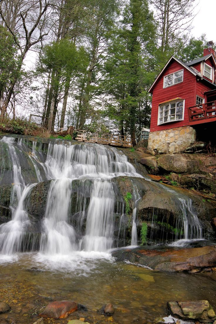 Mill Shoals Falls in Pisgah National Forest in North Carolina - near Asheville