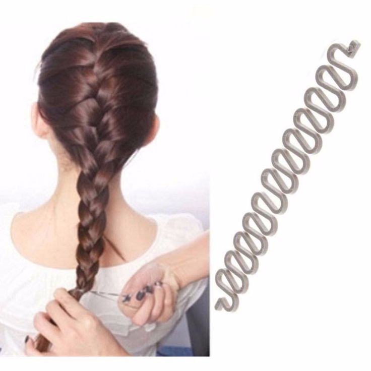 Women Fashion Hair Style Clip Stick Bun Make Twist Braid Tool Lock Weave gray