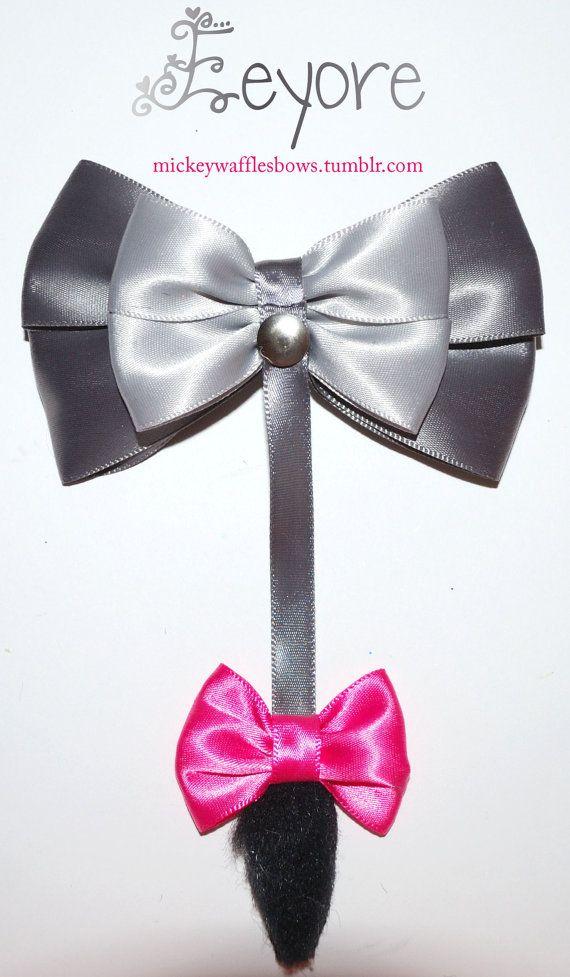 Eeyore Hair Bow by MickeyWaffles on Etsy, $9.00