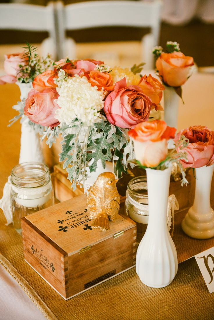 Glass Box Centerpiece : Best images about cigar box centerpieces on pinterest
