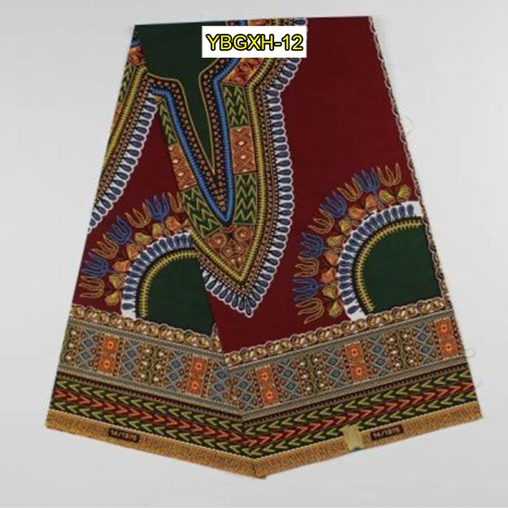 Find More Fabric Information about YBGXH 12 wine unstitched African Dashiki fabric for one Africa poncho shirt…