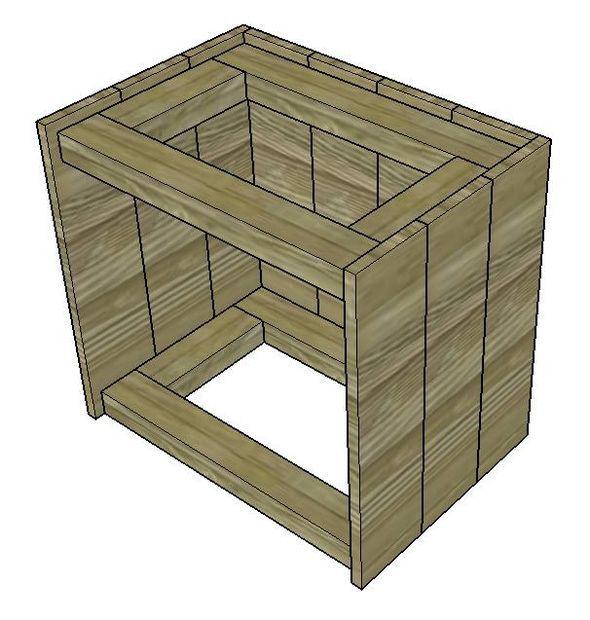 Les 25 meilleures id es de la cat gorie tables de nuit for Construire une table de chevet