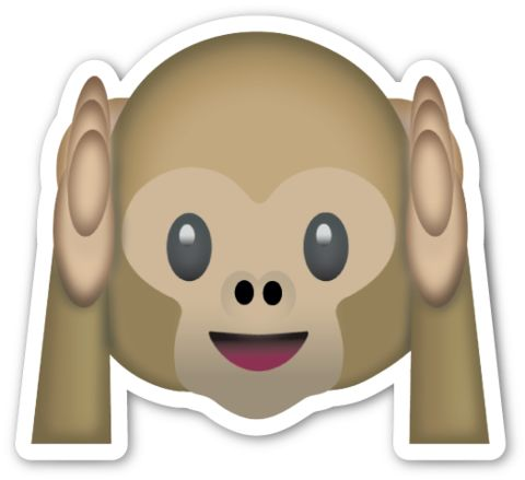 Hear No Evil Monkey | EmojiStickers.com
