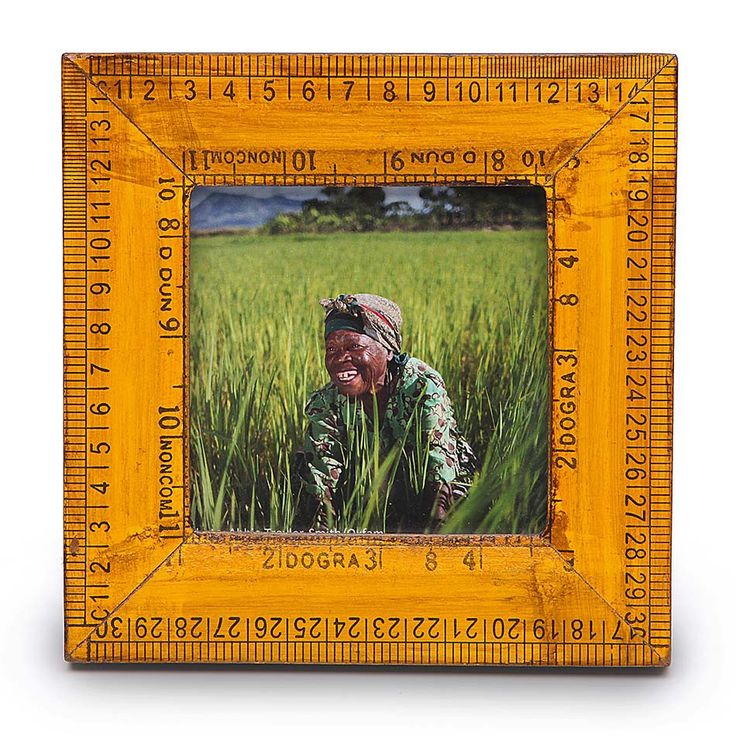 Recycled Rulers Photoframe