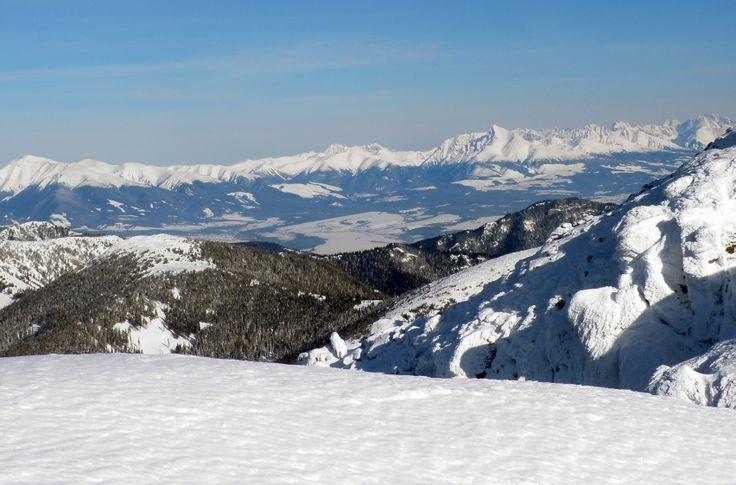 View on the Mountain Vysoké Tatry from Chopok (Nízke Tatry)