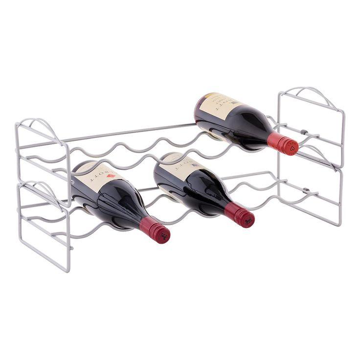 $18 6-Bottle Stackable Wine Rack