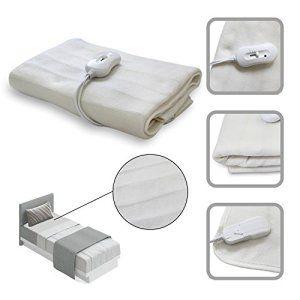 Surmatelas Polyester chauffant éléctrique 1 place 150x80cm – 60W – couleur blanche aux normes CE, GS, CB, EMC
