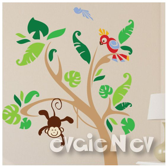 Tropical Wall Decals is highly popular wall stickers from our collection of Nursery Wall Decals, Jungle Safari Wall Decals and Baby Wall decals. It is handmade using Top-Quality Matte Vinyl and perfect to decorate and add your personal touches to any space or room.