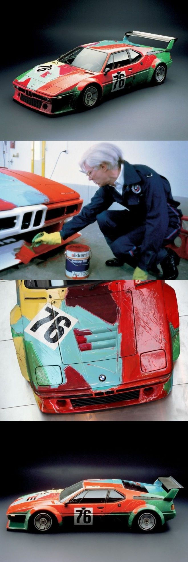 Not completely agreeing on the result, - but interesting concept, 1979 BMW M1 Painted By Andy Warhol