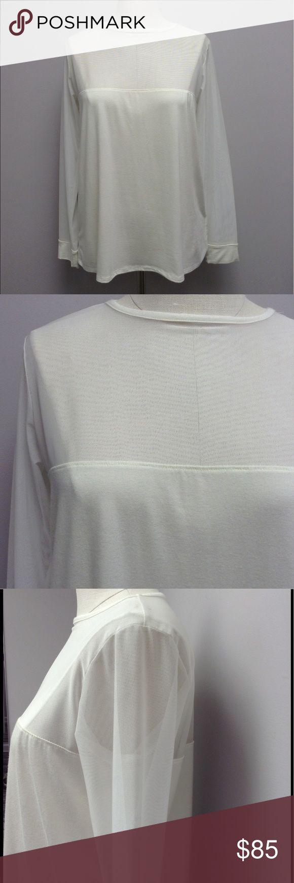 Rachel Pally Mesh Aida Top White. Mesh sleeves. Rachel Pally Tops Blouses