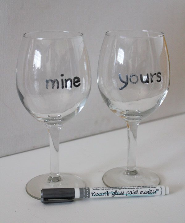 write words on the wine glasses diy projects pinterest
