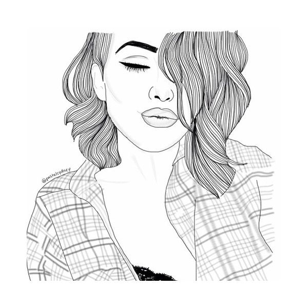 Line Art We Heart It : Best images about outline drawings on pinterest