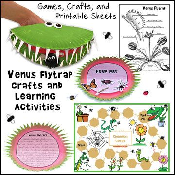 Venus Flytrap Crafts and Learning Activities for Children from www.daniellesplace.com