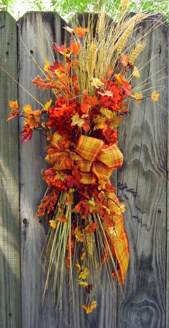 Fall Wreath  Autumn Wreath  Wreath For The Door by forevermore1, $79.00