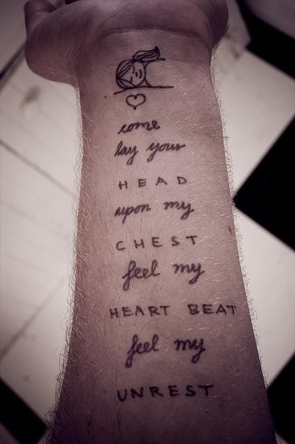 lay my head down: