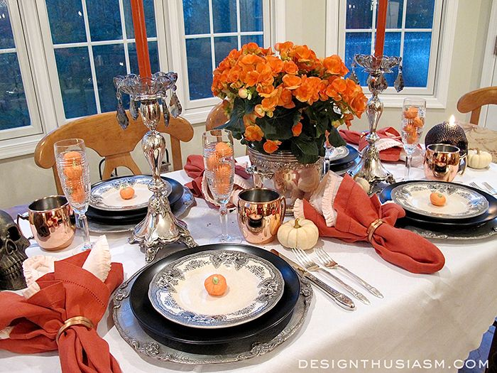 Color & Class - A Halloween Table Setting