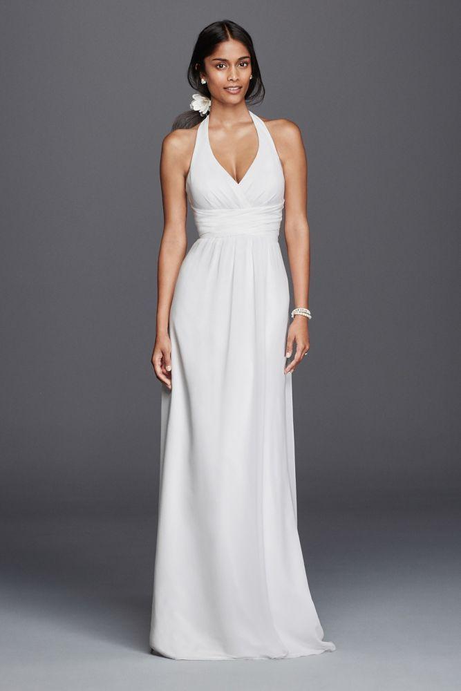 Best 25 halter wedding dresses ideas on pinterest for Casual sheath wedding dresses
