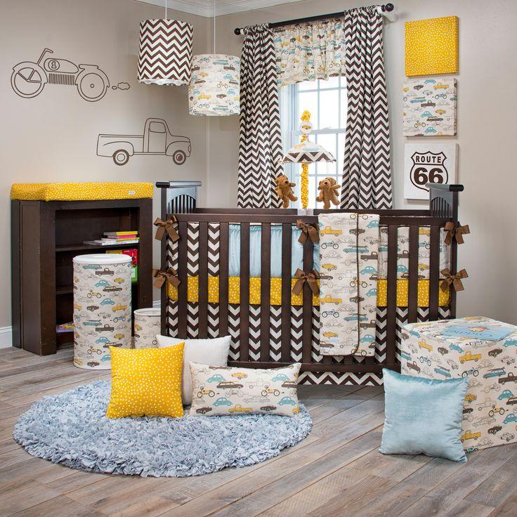 Buy Traffic Jam Crib Bedding, Sweet Potato | Chevron Crib Set for Boys - 15240