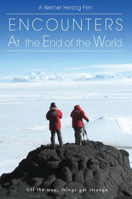 Encounters at The End of the World  Description: Aan het einde van de wereld leeft een verborgen gemeenschap. Duizend mannen en vrouwen leven nauw samen in Antarctica hun leven riskerend voor baanbrekende wetenschap. Nu wordt er voor de eerste keer een buitenstaander toegelaten. Documentairemaker Werner Herzog reist met enkel een cameraman af naar Antarctica en geeft de kijker in Encounters At The End Of The World toegang tot de woeste schoonheid en rauwe menselijkheid van het ultieme Down…