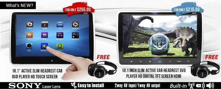HP10 active headrest DVD player