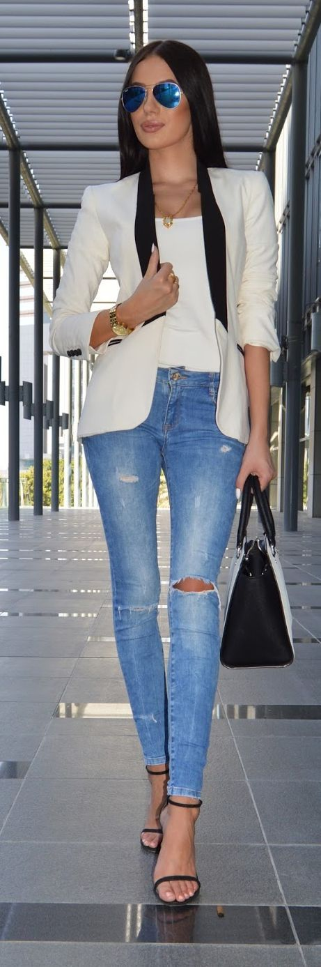Suit Blazer Casual Chic Streetstyle by Laura Badura Fashion