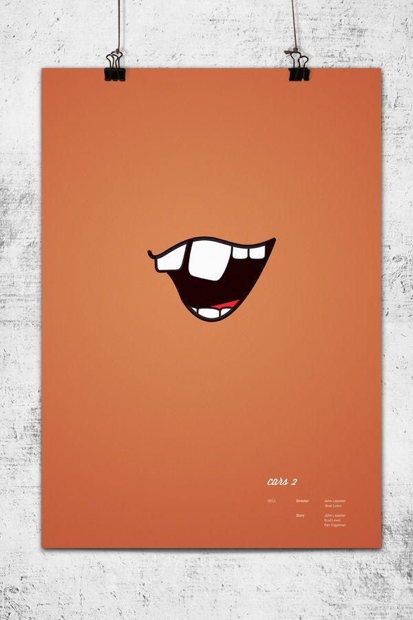 【画像】ピクサー映画を極限までシンプルに表現した映画ポスター9枚