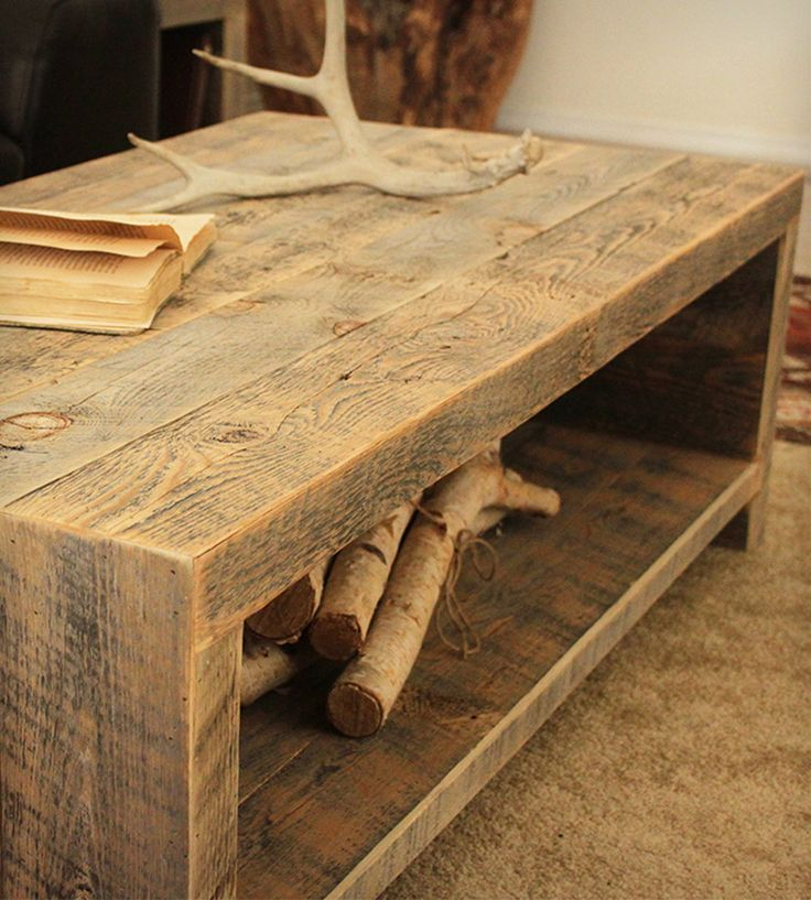 These rough cut styled tables are awesome