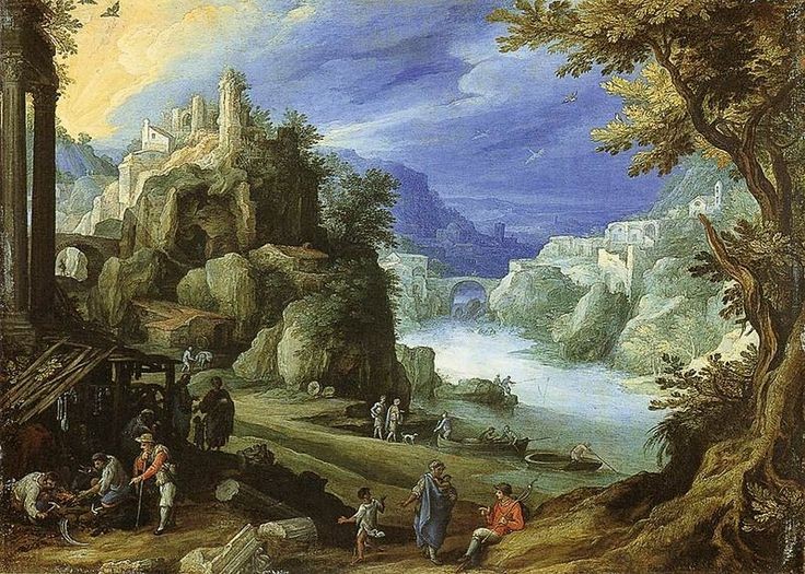 Paul Bril (circa 1553/1554–1626) Fantastic Landscape Date	1598 Medium	oil on copper Dimensions	Height: 21.3 cm (8.4 in). Width: 29.2 cm (11.5 in). National Gallery of Scotland Edinburgh