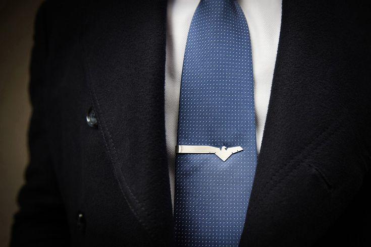 Eagle tie clip // sterling silver