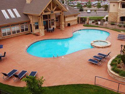 pool deck repair and resurfacing at denver apartment. Black Bedroom Furniture Sets. Home Design Ideas