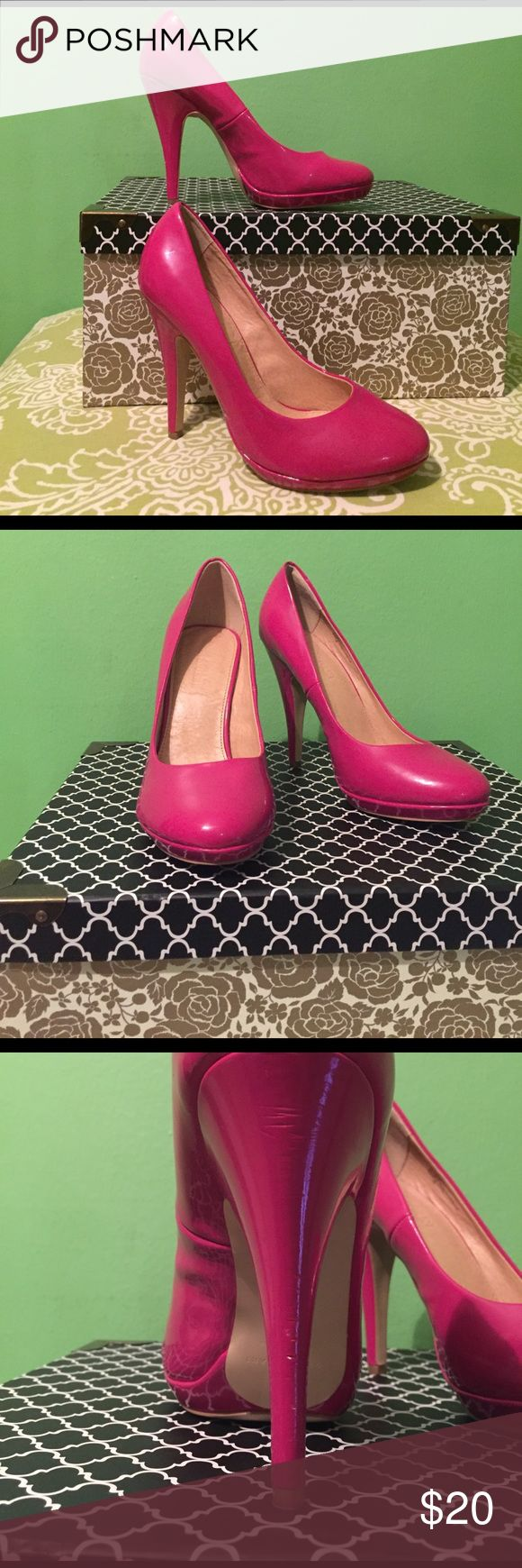 Colin Stuart Hot Pink Heels 👠 Worn only Once Colin Stuart Hot Pink Heels. A couple scuff marks on the Heel shown in photo. Other then that they are in Excellent Condition. Colin Stuart Shoes Heels