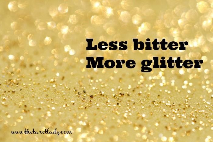 Less bitter, more glitter   #lessmore #less-more