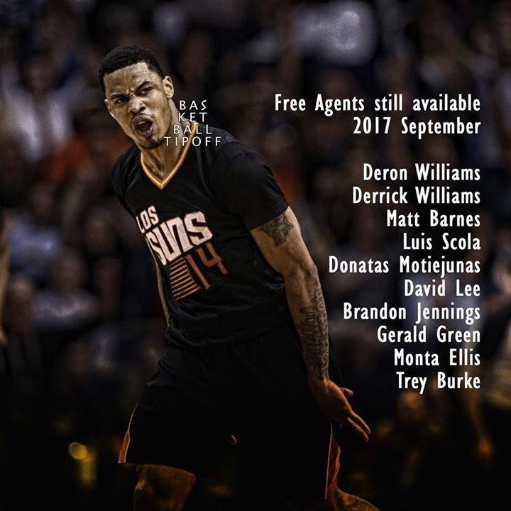 Free Agents still available. Deron Williams Derrick Williams Matt Barnes Luis Scola Donatas Motiejunas David Lee Brandon Jennings 14.3 PPG 5.7 AST Gerald Green Monta Ellis Trey Burke Backed out of a deal with OKC Every year there are big names on the free agent's list and some of these will never play in the NBA again. They are the next recruits for the BIG 3 League. Brandon Jennings may end up at Oklahoma City Thunder and Gerald Green should end up on a bench near you soon.