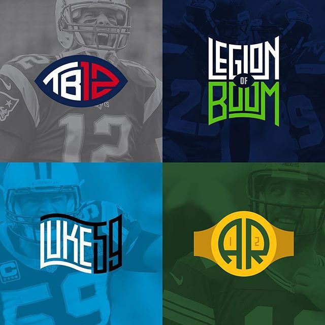 Here's the other 4 of the 8 NFL athlete logos I created for ESPN. Got a favorite? #typography #lettering #illustration #vector #infographic #design #studio #Orlando #local #vscocam #vsco #editorial #espn #nfl #iloveligatures #typetopia #tombrady #lob #legionofboom #lukekuechly #aaronrodgers #seahawks #packers #panthers #patriots