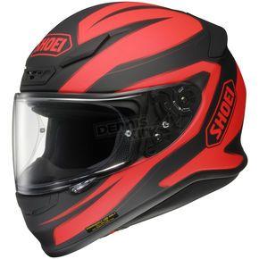 Shoei Helmets Black/Red RF-1200 Beacon TC-1 Helmet - 0109-1301-03