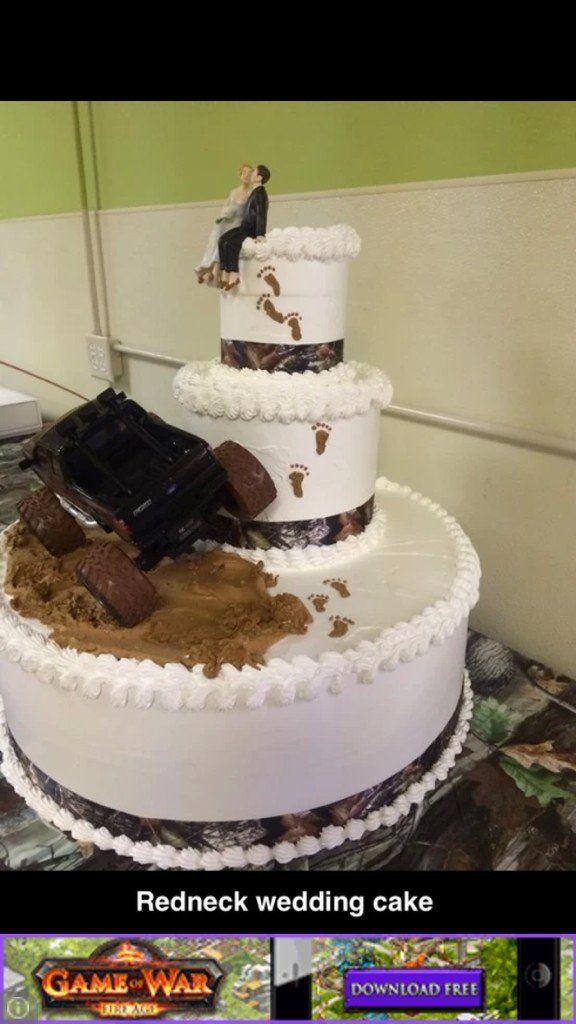 Redneck Wedding Cake.