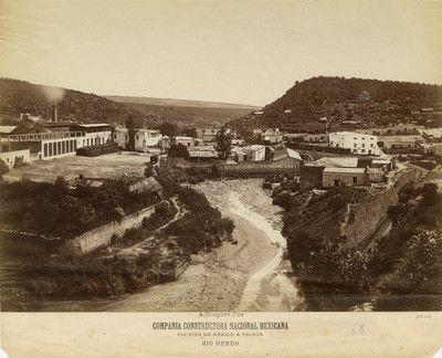 1890 Division de Mexico a Toluca.  Rio Hondo
