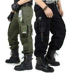 #Banggood Открытый военный тактический брюки-карго мульти- карманы альпинистские длинные брюки (1038432) #SuperDeals