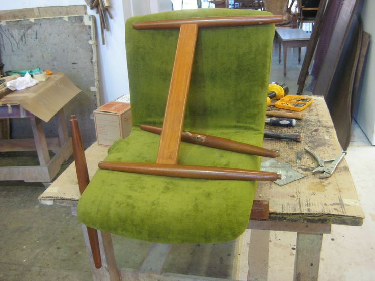 #accent #chair to be #repaired #refinished #reupholstered by AM Furniture Finishing