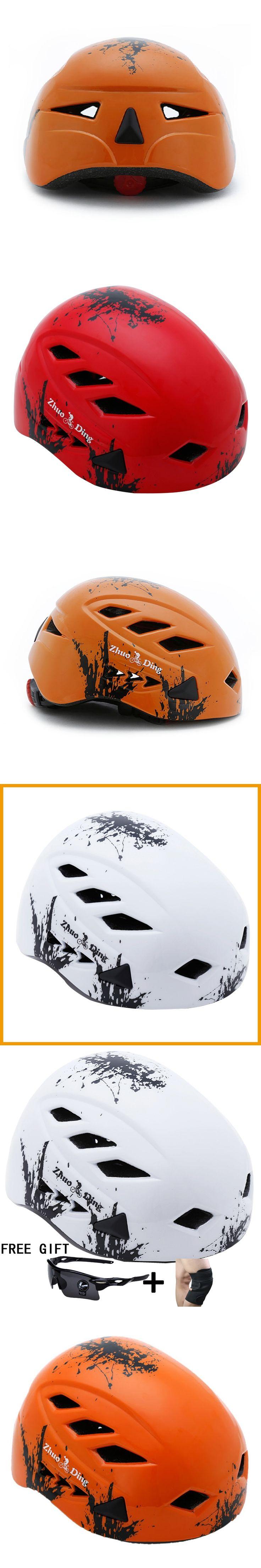 Rock Climbing Mountain Climbing Helmet Integrally-molded Ultralight  Cycling Helmet Breathable Men and women  Climbing Bicycle