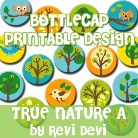 Instant download.. True Nature  A 16135  Bottlecap by BlessedShop