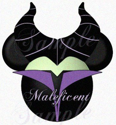 Maleficent character Sleeping Beauty inspired by SwirlyColorPixels, $3.00