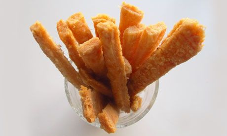 Perfect Cheese Straws, by Felicity Cloake. Party snacks for Fancypantses!