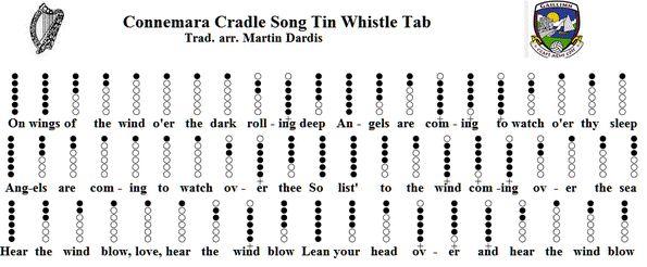 Connemara Cradle Song Notes For Tin Whistle