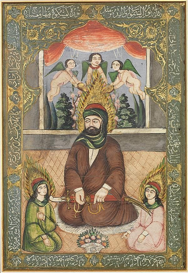 File:CHAMAYEL early 19th century qajar iran miniature representing ...