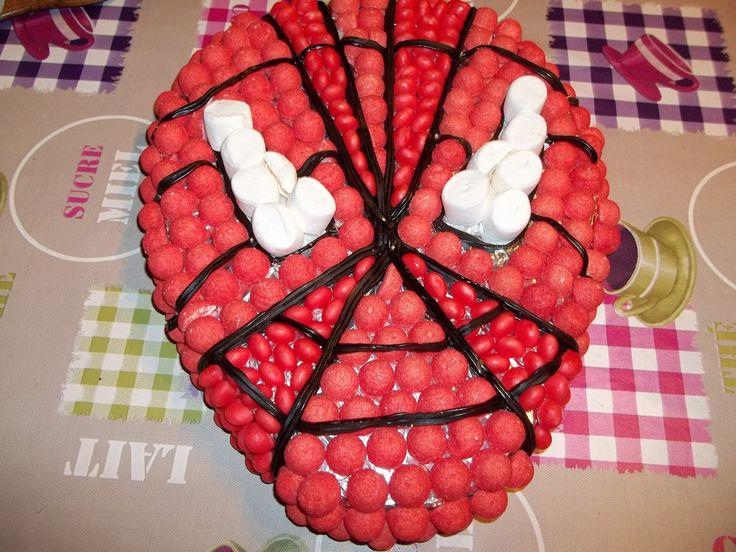 Et le gateau de bonbons Spiderman !!!!