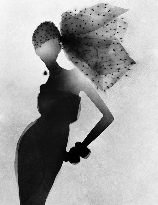 Elegant fashion illustration - fashion silhouette drawing// Mats Gustafson Incroyable jeu de lumière.