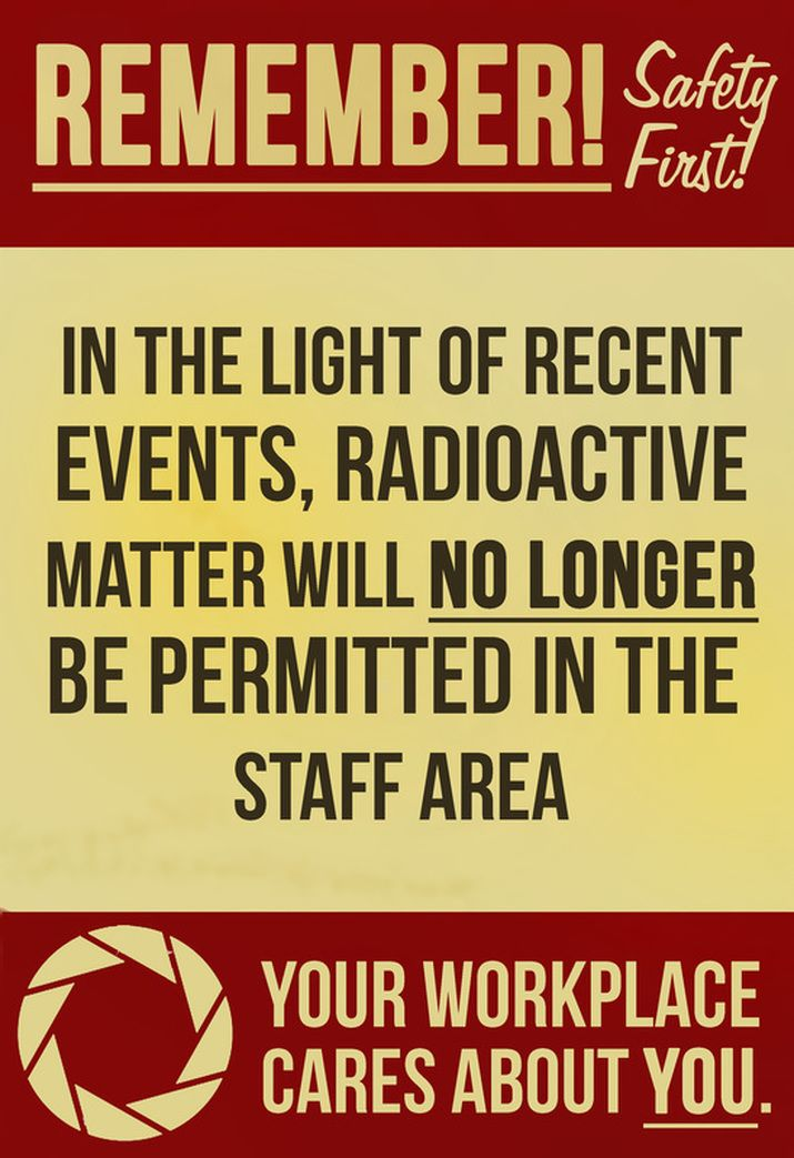 Aperture Science Poster Nerd Pirates What If Radioactive Matter Remember
