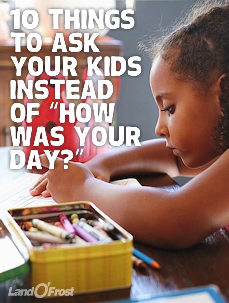 """Getting the kids to open up to you after school can be tough! Try these questions instead for better conversation, like """"How did you help your teacher today?"""" and """"What else would you like in your lunch?"""""""